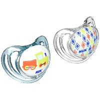 NUK Airflow Orthodontic Pacifier with Trains Design, 6-18 Months by NUK