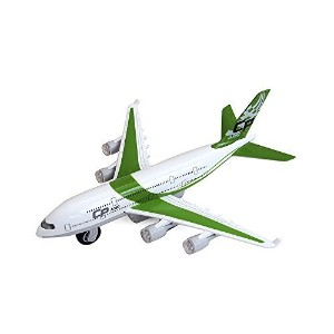 Moleya Kids Toys 20CM Airbus Emirates A380 Airplane Pull Back Electric Plane Model with Lights and...