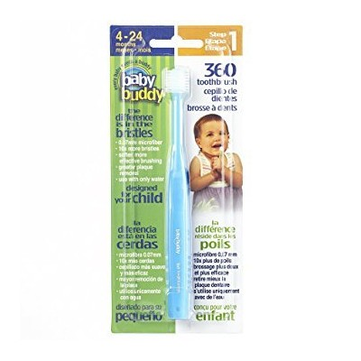 Baby Buddy's 360 Degree Toothbrush- Baby's First Toothbrush-Innovative Complete Oral Care System...