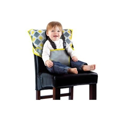 Portable Easy Seat by Cozy Cover - Infant Safety Seat - Charcoal/Yellow by Cozy Cover
