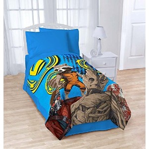 MARVEL GOTG Coral Fleece Blanket, Blue Blaze [並行輸入品]