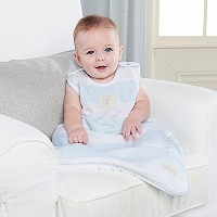 Baby Aspen Sweet Snuggles Muslin Wearable Blanket, Blue by Baby Aspen [並行輸入品]