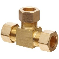 Anderson Metals Brass Tube Fitting, Tee, 5/8 x 5/8 x 5/8 Compression by Anderson Metals