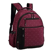 Abonnyc Diaper Bag Backpack Nappy Bags Mummy Travel Backpack Nursery Changing Bag Tote (Claret Red)...