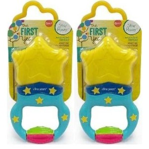 The First Years Massaging Action Teether - 2 Teethers by NYD Packs