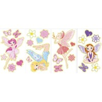 Wall Pops Repositionable Glow in the Dark Fairies, Wall Stickers