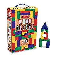 Melissa & Doug 100-Piece Wood Blocks Set [並行輸入品]