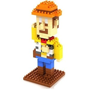 Little Treasures Loz diamond blocks featuring toy story Woody I-block fun - compatible to Nanoblocks...
