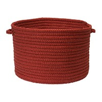 Simply Home Solid Utility Basket, 18 by 12-Inch, Brick Red [並行輸入品]