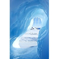 Wallmonkeys Wall Decals Ice Cave Peel and Stick Wall Decal, 18 x 12 by Wallmonkeys Wall Decals