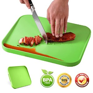 Chopping Board withジュースGroove、キッチンカッティングボードfor Meat & Vegetable Multipurpose BBQ Chopping Board 14 ...