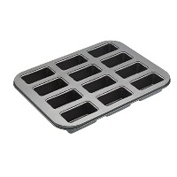 Masterclass Heavy Duty Mini Loaf Tin With Loose Base - 12 Hole