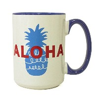 Angels by the Sea Hawaii アロハパイナップルマグ 15oz