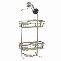 Zenna Home E7523STBB, Over-the-Showerhead Caddy, Stainless Steel [並行輸入品]