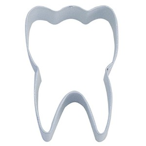 CybrTrayd R&M Tooth Durable Cookie Cutter, 3-Inch, White, Bulk Lot of 12 [並行輸入品]