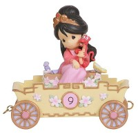 Precious Moments Disney Show Case Collection Collectible Figurine, Nine Is Divine Mulan [並行輸入品]