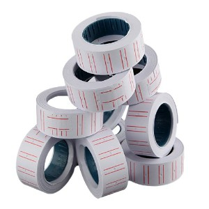 New 10 Rolls Label Paper For Mx 5500 Price Gun Labeller Paste (Usa)