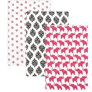 Yoga Sprout 3 Piece Muslin Swaddle Blankets, Damask Collection by Yoga Sprout