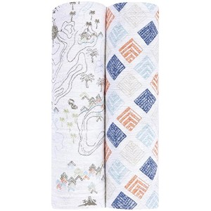 aden + anais Organic Swaddle 2 Pack, Warrior Finn by aden + anais