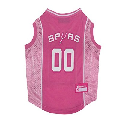 San Antonio Spurs Pink Dog Jersey Large