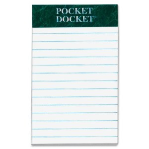 Docket Perforated Pads, Legal Rule, 3 x 5, White, 12 50-Sheet Pads/Pack (並行輸入品)