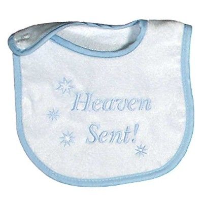 Raindrops Heaven Sent Embroidered Bib, Blue by Raindrops