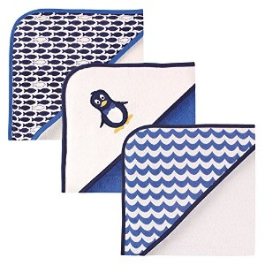 Luvable Friends 3 Piece Hooded Towels, Penguin by Luvable Friends