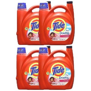 Tide with Downy タイド リキッド ウィズ ダウニー エイプリルフレッシュ 液体洗濯洗剤 5.02L×4個