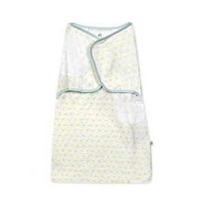 Just Born 100% Cotton Simply Secure Swaddle, Sweet Pea Green by Just Born