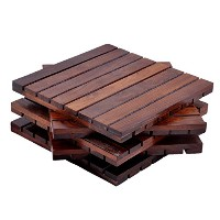 hashcartコースターのSheesham Wood Indianローズウッドfor serving ( Set of 5 ) – 4 x 4インチ 8x8 inch ブラウン coaster-s...