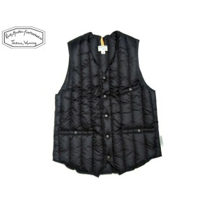 ROCKY MOUNTAIN FEATHERBED(ロッキーマウンテンフェザーベッド)/#200-172-12 SIX MONTH V-NECK (LO NECK)VEST/black