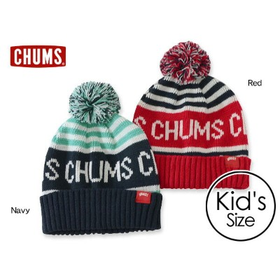 CHUMS kids CHUMS Logo Border Watch■CH25-1008-MG【キッズ ニット帽 ロゴ ボーダー 子供 子ども チャムス 】■7007436