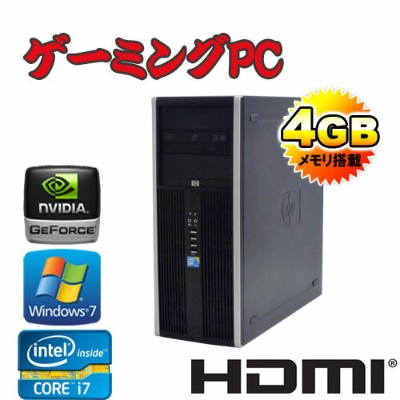 ゲーミングpc 中古 デスクトップ HP 8300 Elite MT Core i7-3770メモリ4GB500GBDVD-MultiGeforceGTX105064Bit Win7Pro //R...