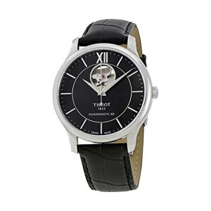 ティソ Tissot 腕時計 メンズ 時計 Tissot Tradition Automatic Black Dial Mens Watch T0639071605800