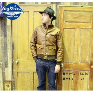 "No.BR80413 BUZZ RICKSON'S バズリクソンズ""type A-1""BRONCO HIDE"