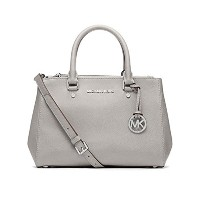 MICHAEL KORS SUTTON SMALL SATCHEL PEARL GREY
