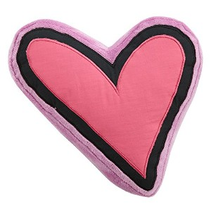 One Grace Place Sassy Shaylee Decorative Heart Pillow, Black/Pink/Purple [並行輸入品]