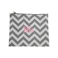 Caught Ya Lookin' Wet Bag, Girl's Chevron, Gray/Pink/White, One Size by Caught Ya Lookin'