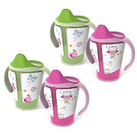 BPA-Free Grow with Me 6 oz. Training Cup, 4 Count, Girl by BornFree