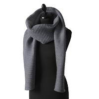 プリース ロングスカーフ ダークグレー Pleece LONG SCARF dark gray Marianne Abelsson