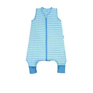 Kids Summer Sleep Sack with Feet Early Walker 0.5 Tog Blue Stripes 3-4 years by SlumberSafeTM