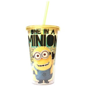 シルバーBuffalo dm09087怪盗グルーの月泥棒One in a Minion Cold Cup with Lid and Straw、16-ounces