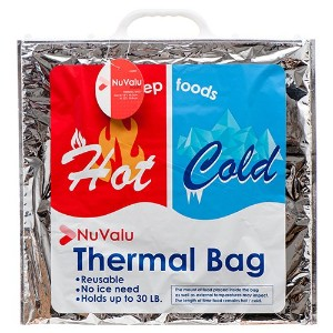 "nuvaluジャンボInsulated Coldホット熱ランチ食品バッグ20 x 20 "" TY15122549"