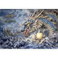 クロスステッチ刺繍図案 Heaven And Earth Designs(HAED) - Mini Blue Dragon