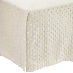 American Baby Company Heavenly Soft Minky Dot Tailored Crib Skirt, Ecru by American Baby Company