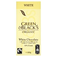 Green & Blacks Organic White Chocolate 100 g (order 15 for trade outer) / グリーンWWWW黒人オーガニックホワイトチョコレート...