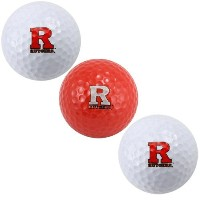 Rutgers Scarlet Knights Pack of 3 Golf Ballsチームゴルフから