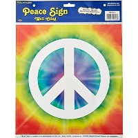 Beistle 54344 Peace Sign Peel ' N Placeパーティーデコレーション、12-inch by 15インチシート