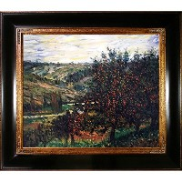 overstockArt mon2031-fr-240g20X 24モネApple Trees in Bloom at Vetheuil 1887with Opulentフレーム...