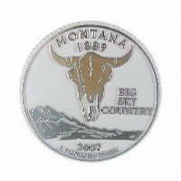 State Quarter Magnet - Montana by Classic Magnets